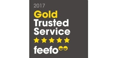 Feefo Gold Trusted Service Award 2017