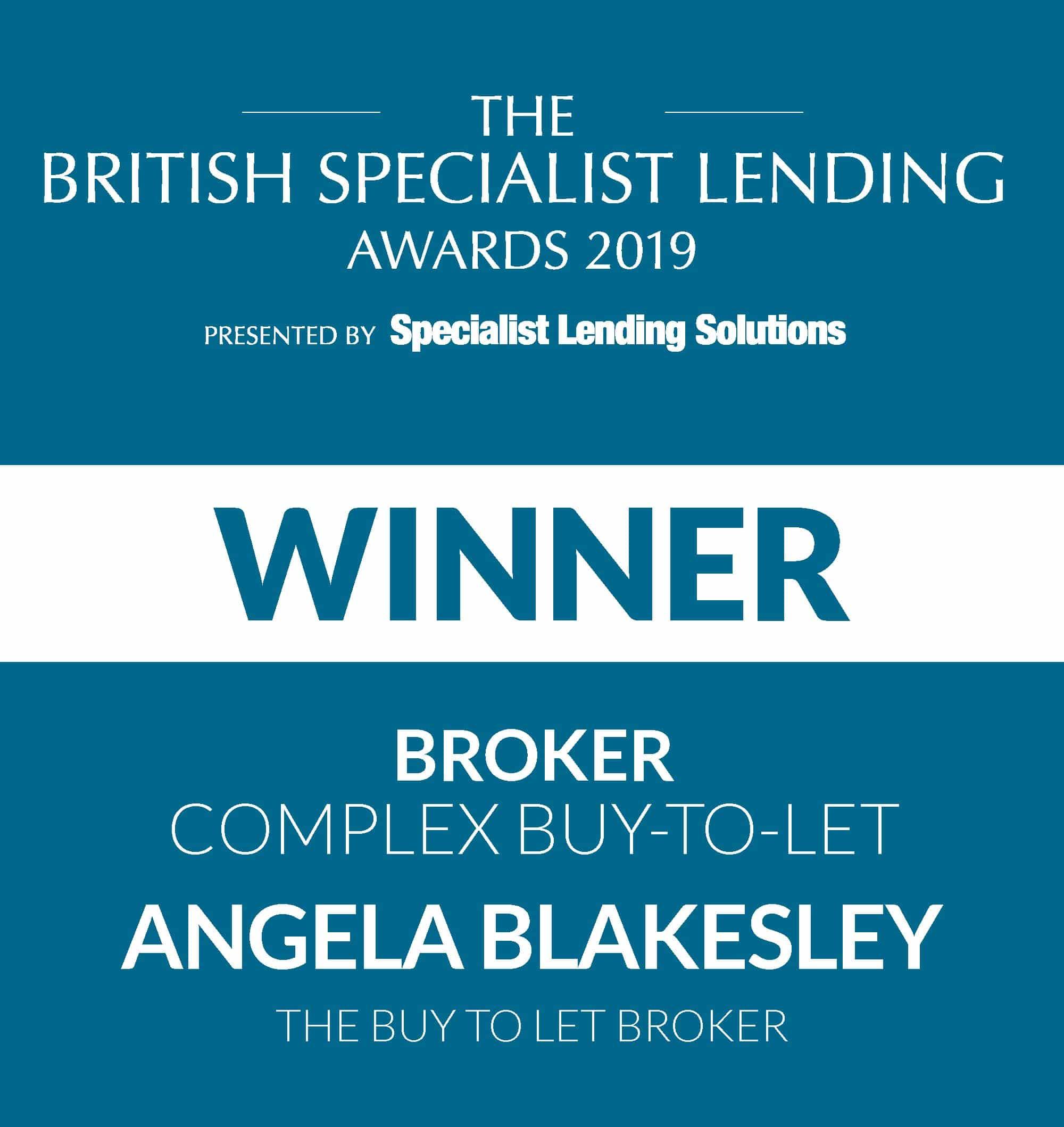 The British Specialist Lending Awards winner Angela Blakesley