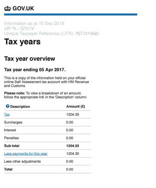 HMRC Tax years overview new