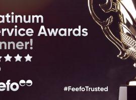 Feefo Platinum Service Awards Winner 2020