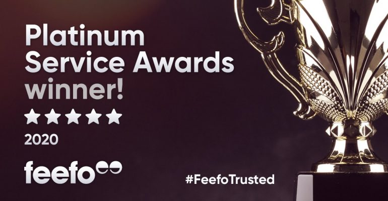 Feefo Platinum Service Awards Winner 2020