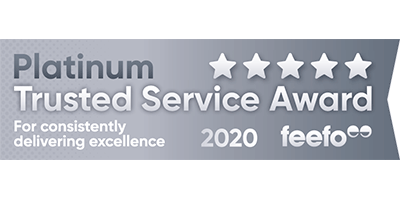 Feefo Platinum Trusted Service Awarc