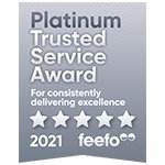 The Buy to let Broker Feefo badge 2021